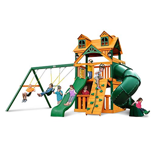Gorilla Playsets Malibu Extreme Clubhouse Swing Set w/ Timber Shield by Gorilla Playsets