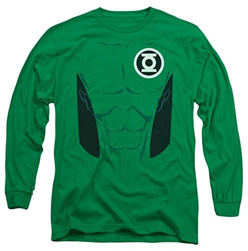 [Green Lantern Kyle Rayner Costume Long Sleeve T-Shirt] (Kyle Rayner Costumes)
