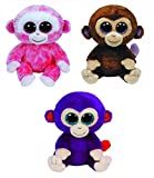 grapes beanie boo - Ty Ruby, Grapes & Coconut the Monkeys Beanie Boos Set of 3 Plush Toys