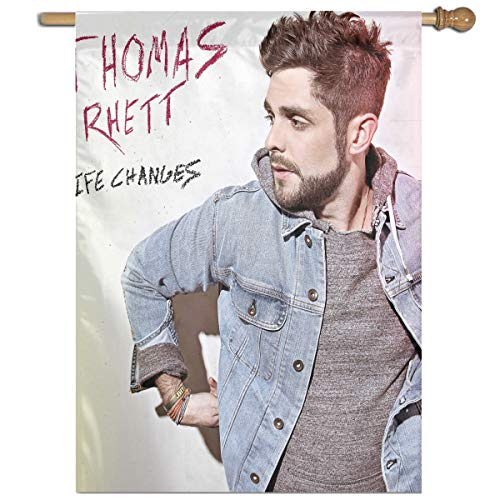 BeatriceBGault-id Thomas Rhett Life Changes Classic Home Garden Flag Polyester Flag Indoor/Outdoor Wall Banners Decorative Flag Garden Flag (27x37 -