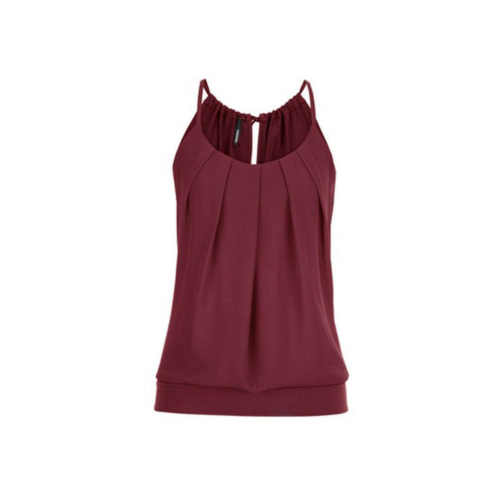 Camisoles of Womens Loose Sleeveless Tank Tops O Neck Solid Vest Bustier Fashion Crop Tops Sport Camis Blouse Plus Size S~5XL Wine