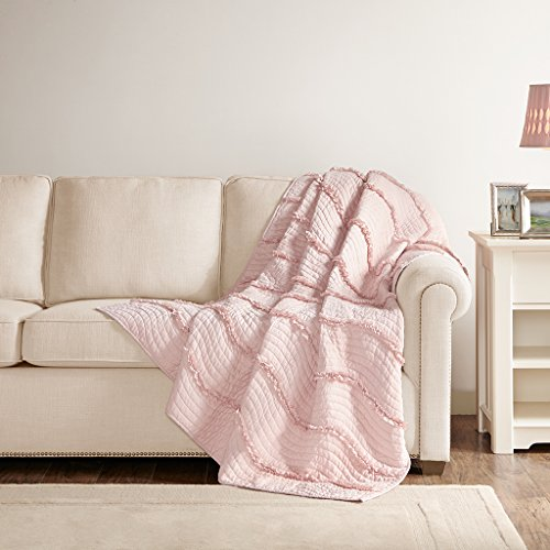 quilted throw pink - 1