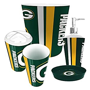 Lovely Green Bay Packers 5 Piece Bathroom Set