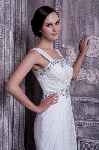 Neue Hochzeitskleid Sicke elegante Elfenbein BRIDE GEORGE Hochzeitskleider Brautkleider Gurt Abendkleid w5qHfn7