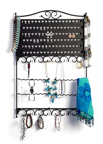 - Mango Steam Wall-Mounted Jewelry & Earring Organizer