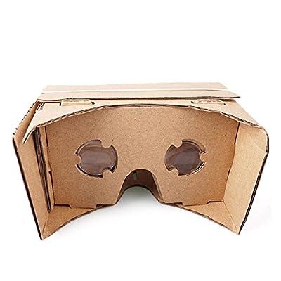 Google Cardboard VR 3D Glasses with Black Magnet for 4-5 inch iPhone Samsung Smartphones