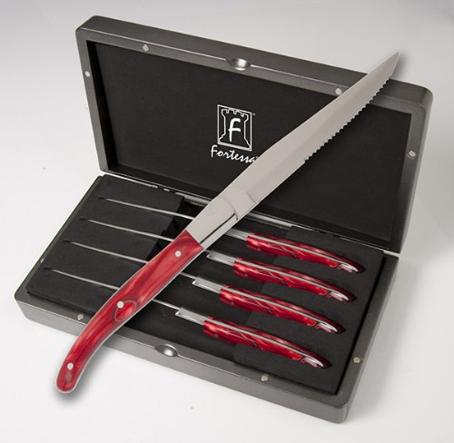 Fortessa Laguiole Red Marble Handle Steak Knives (set Of 4) Review