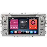 Autosion In Dash Android 6.0 Car DVD Player Sat Nav Radio Head Unit GPS Navigation Stereo for Ford Mondeo Focus S-Max Ford Galaxy Tourneo Transit Support Bluetooth SD USB Radio OBD WIFI DVR 1080P