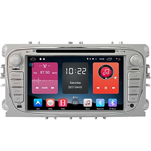 Autosion In Dash Android 6.0 Car DVD Player Sat Nav Radio Head Unit GPS Navigation Stereo for Ford Mondeo Focus S-Max Ford Galaxy Tourneo Transit Support Bluetooth SD USB Radio OBD WIFI DVR 1080P by Autosion