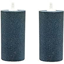 Pawfly 2 PCS Large Air Stones Cylinder for Hydroponic Systems, Ponds, Aquarium or Fish Tank, Air Stone Diffuser Produces Fine Bubbles
