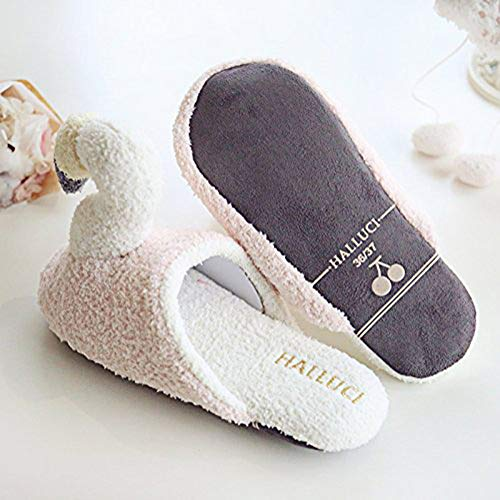 Estar Interior Cómodo Exterior Mujer Minetom Planos Zapatillas Antideslizante Slipper De Algodón Dibujos Animados Casa 08 Invierno Zapatos Lindo Flamingo XwqEXWzp
