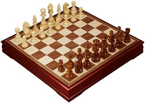 CAIM De Madera Maciza de Juego de ajedrez, Tablero de Madera, Regalo y Juegos de Mesa for Adultos y niños (Grande, Mediano) (Size : M) : Amazon.es: Juguetes y juegos