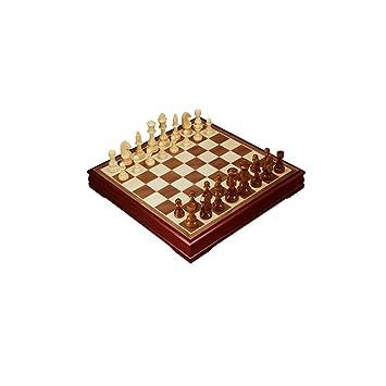 CAIM De Madera Maciza de Juego de ajedrez, Tablero de Madera ...