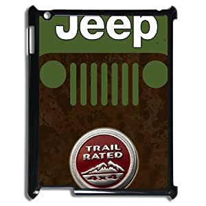 DiyCaseStore Funny Jeep iPad 2/3/4 Well-designed Hard Case Cover Protector