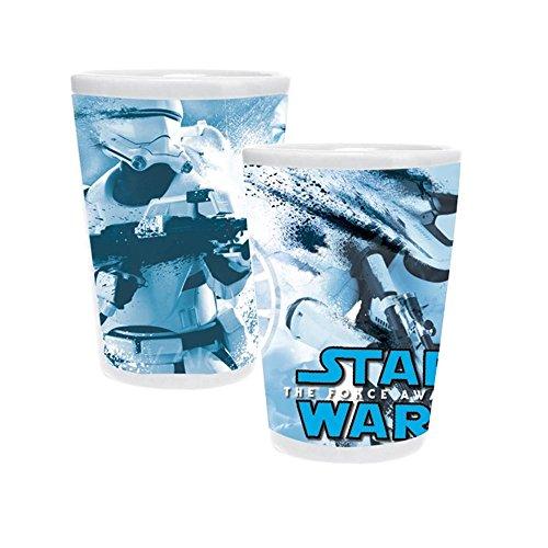 Holder Toothpick Star ([Set of 2] Star Wars TFA Stormtrooper Splatter Ceramic Toothpick Holder/Shot Glass Set)