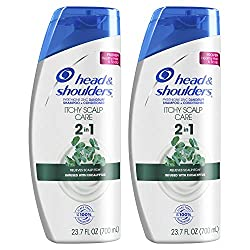 Head & Shoulders Itchy Scalp Care Anti-Dandruff 2 in 1 Shampoo and Conditioner, Infused with Eucalyptus, 23.7 Fl Oz, Twin Pack