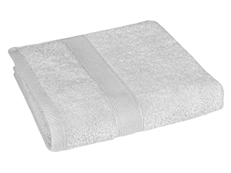 REVITEX - Toalla Rizo Estela Blanco - Lavabo 50x100 cm - 100% Algodón - Gramaje