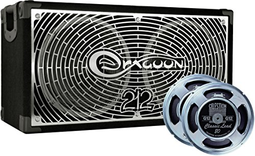 4x12 Mono / Stereo Guitar (DRAGOON280C8CL Handcrafted High Performance 2x12 Inches Guitar Speaker Cabinet with Celestion G12 Classic Lead)