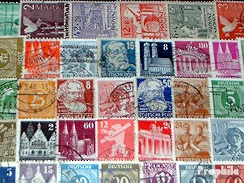 Allied Cast in Germany 100 Different Stamps Zones West + East After The 2. War (Stamps for Collectors)