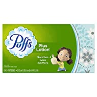 Puffs Plus Lotion Facial Tissues, 1 Family Box, 124 Tissues per Box