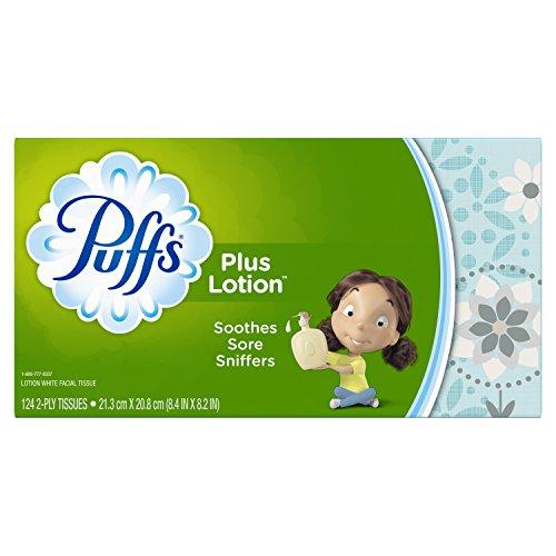 (Puffs Plus Lotion Facial Tissues, 1 Family Box, 124 Tissues per Box )