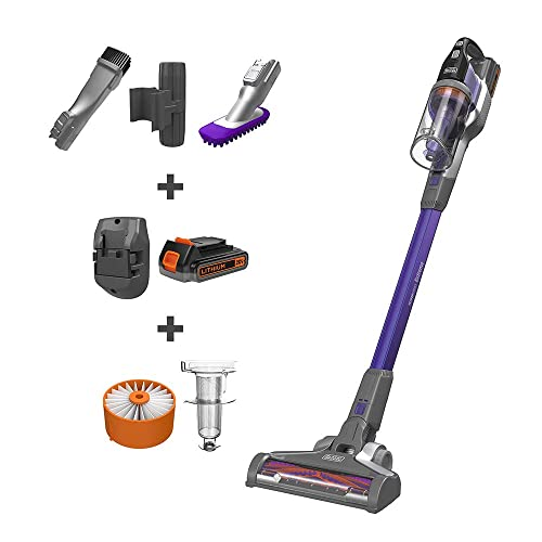 BLACK DECKER POWERSERIES Extreme Cordless Stick Vacuum for Pets, Purple BSV2020P