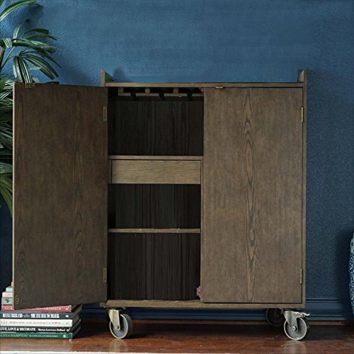 Hives and Honey Haven Home Smith Burnish Wood bar Cabinet, Burnished - Haven Smith