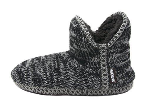 Muk Luks Womens Amira Short Slipper Bootie Marble Steel/Grey/Black SYOv0s