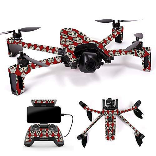 MightySkins Skin for Parrot Anafi Drone - Sugar Skull | Protective, Durable, and Unique Vinyl Decal wrap Cover | Easy to Apply, Remove, and Change Styles | Made in The USA