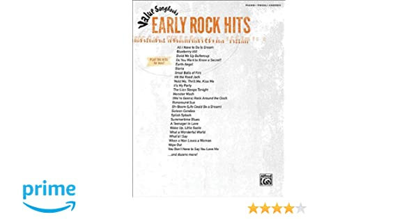Value Songbooks Early Rock Hits Pianovocalchords Hal Leonard