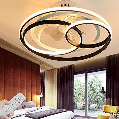 LED-plafondventilatoren Met afstandsbediening Stille Plafondlamp met verlichting Dimbare 3000K-6000K Fan kroonluchter…