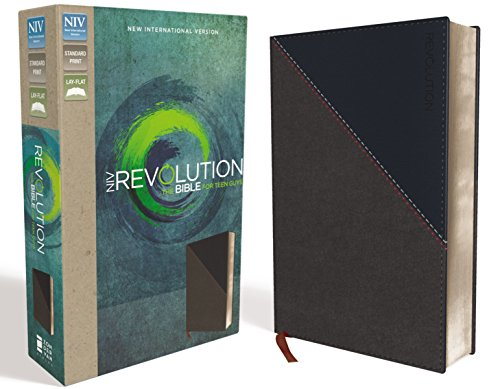 NIV, Revolution Bible, Leathersoft, Gray/Navy: The Bible for Teen Guys