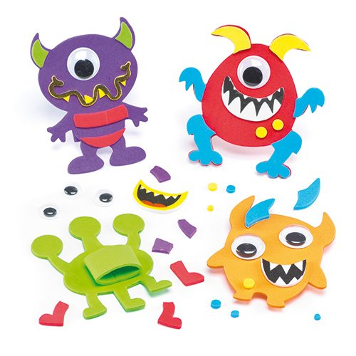 Monster Foam Finger Puppet Kits for Children to Decorate and Display (Pack of 6) (Monster Puppet Your Make Own)