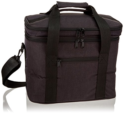 Tote Pail - PuTwo Lunch Bag 12L Insulated Lunch Bag Lunch Box Lunch Bags for Women Lunch Bag for Men Cooler Bag with YKK Zip and Adjustable Shoulder Strap Lunch Cooler Lunch Tote for Kids Lunch Pail - Black