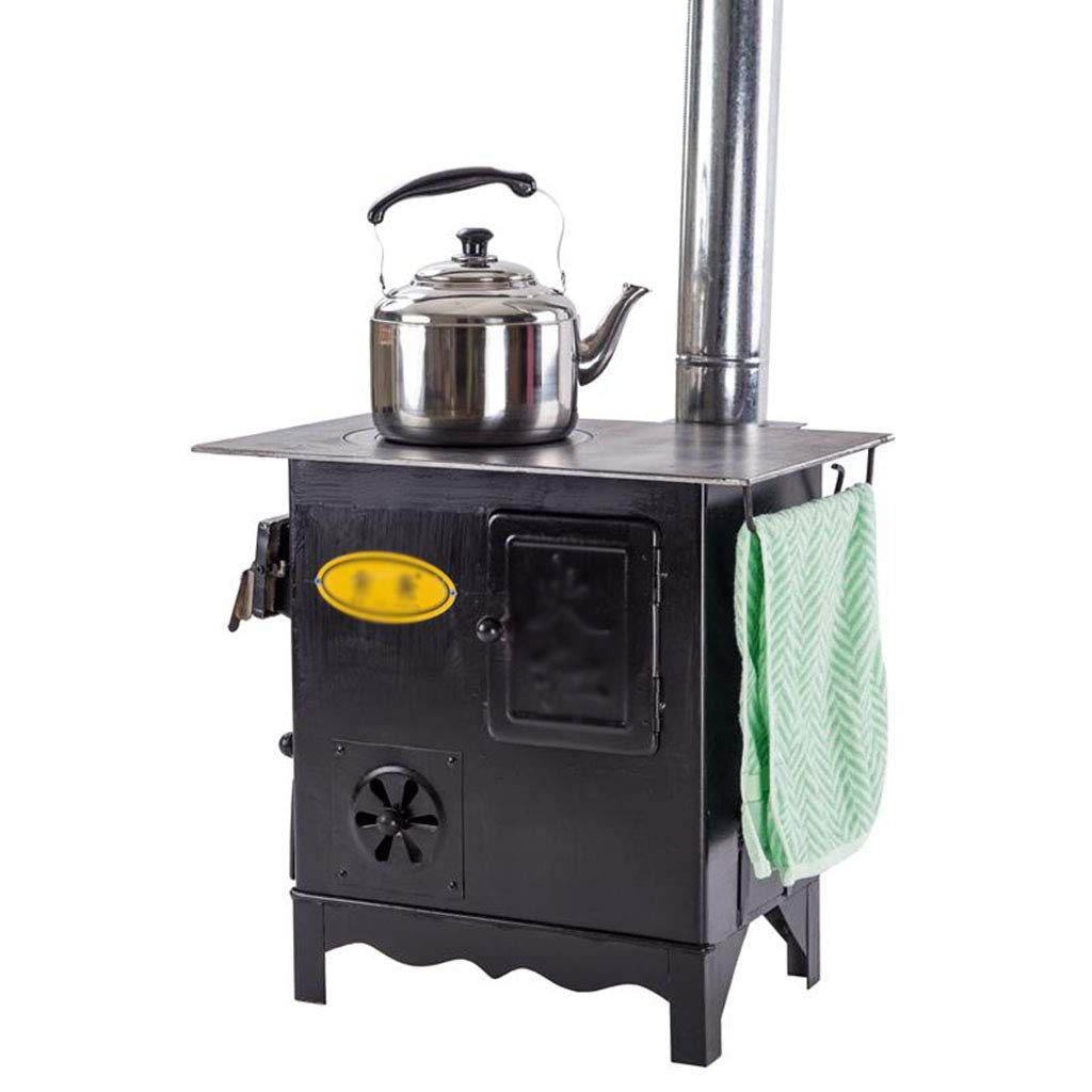 XLOO Large Wood Burning Stove, Guide Gear Outdoor Wood Stove,Rancher Cast Iron Stove,Wood Burning Camp Stove,with Oven,Suitable for Indoor and Outdoor Heating, Daily Cooking, Outdoor Camping by XLOO