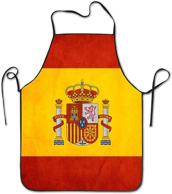 Hat New Delantal de Cocina con diseño de la Bandera de España ...