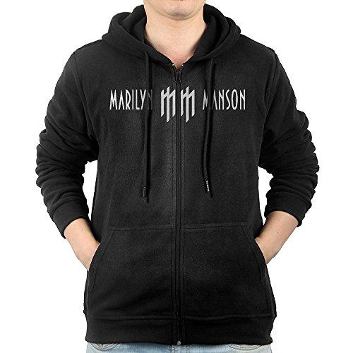 Men Marilyn Manson Logo Hoodie Sweatshirt Black