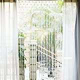 Heart Tassel String Door Curtain Window Room Divider - White