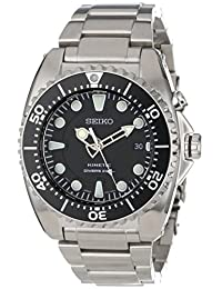 Seiko Men's Kinetic SKA371 Silver Stainless-Steel Automatic Watch