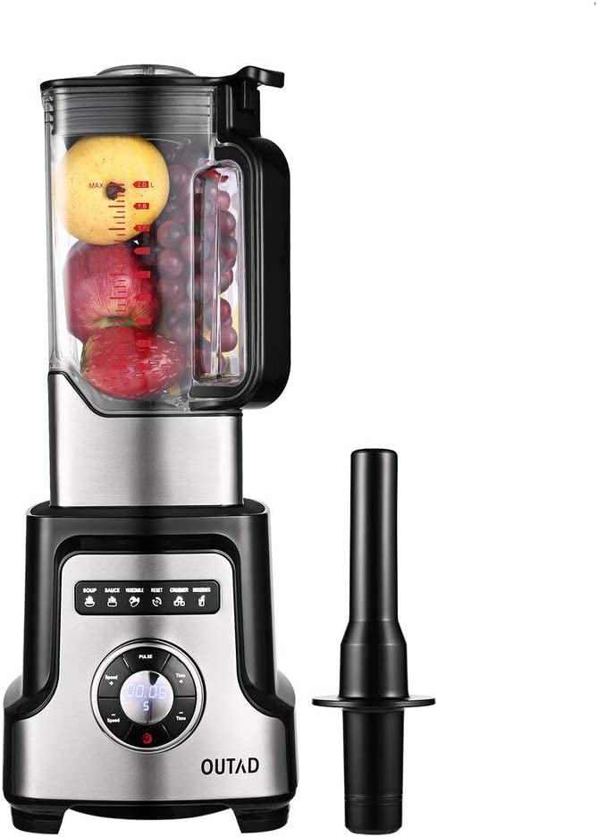 2L Professional Nutrition Power Blender for Shakes, Total Crushing Smoothie Blending Jug, BPA Free Stainless Steel Blades Max 32000 RPM Variable Speed Control