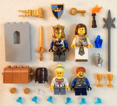 Blue Clone Trooper Costume (NEW LEGO ROYAL FAMILY MINIFIG LOT 4 minifigures castle crown king queen princess)