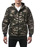Pro Club Men's Heavyweight Full Zip Fleece Hoodie, 4X-Large, Green Camo