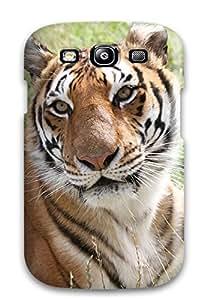 9487721K54681972 New Tiger In Fields Tpu Case Cover, Anti-scratch Phone Case For Galaxy S3