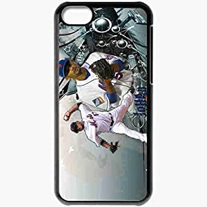 Personalized iPhone 5C Cell phone Case/Cover Skin 15002 Johan Santana by metsy Black by mcsharks