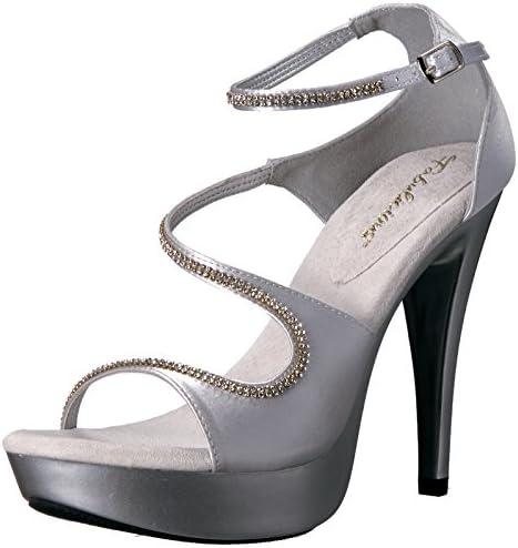 Pleaser Damen Ctail526/Ssa, Silberfarben-Silver Satin