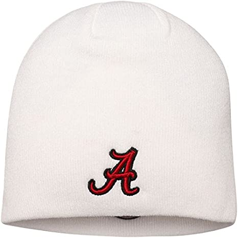 a5fc38f1e71 Image Unavailable. Image not available for. Color  Alabama Crimson Tide Top  of the World Circle Logo EZDOZIT Knit Beanie White