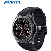 "3G Android smart watch DM368 Wrist watch 1.39"" AMOLED Display quad core Bluetooth 4.0 Heart rate monitor-Black"