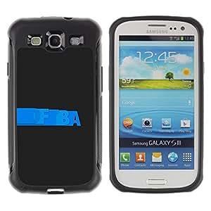Suave TPU Caso Carcasa de Caucho Funda para Samsung Galaxy S3 I9300 / Blue Grey Cool Graphics Black Clean / STRONG