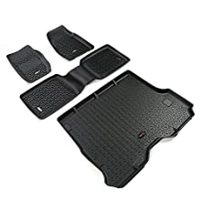Rugged Ridge 12988.30 Black All-Terrain Front and Rear Floor Liner Kit - 4 Pieces