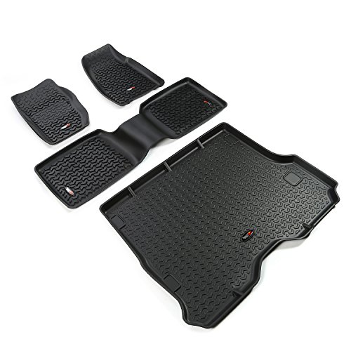 Rugged Ridge 12988.30 Black All-Terrain Front and Rear Floor Liner Kit - 4 Pieces from Rugged Ridge